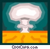 nuclear explosion, mushroom clouds Vector Clip Art graphic