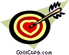 Vector Clip Art image  of a bull's-eye