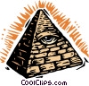 symbolic pyramid Vector Clipart picture