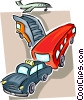 airport automobiles Vector Clipart picture