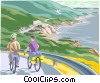 Vector Clipart illustration  of a bicycle path