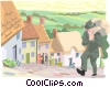 Vector Clip Art graphic  of a village