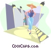 fashion runway Vector Clipart illustration