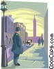 bobby on street corner Vector Clipart illustration