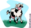 Vector Clipart graphic  of a cow