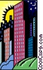 cityscape Vector Clipart illustration
