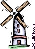 Vector Clip Art graphic  of a windmill