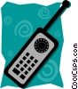 Vector Clip Art graphic  of a cellular phone