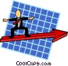Vector Clip Art image  of a business direction