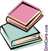 Vector Clip Art graphic  of a books