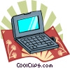 laptop computer Vector Clipart picture