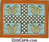 Vector Clip Art graphic  of a native design