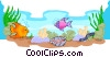 Vector Clip Art image  of a under the sea