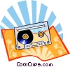 Vector Clipart graphic  of a The Arts/Tape cassette
