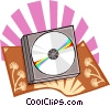 The Arts/CD's Vector Clipart illustration