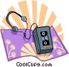 Vector Clipart illustration  of a The Arts/Music/Cassette Player