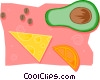 Vector Clip Art picture  of a food and dining/fruits