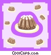 Vector Clip Art graphic  of a desserts