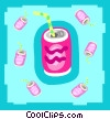 Vector Clip Art image  of a pop drinks
