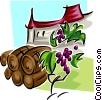 Vector Clip Art graphic  of a food and dining/winery
