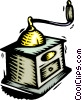 Vector Clip Art image  of a coffee grinder