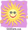happy sun Vector Clip Art graphic