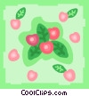 red berries Vector Clipart graphic