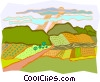 Vector Clip Art image  of a rural countryside