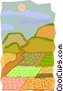 Vector Clipart image  of a landscape
