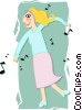 Vector Clip Art image  of a dancer