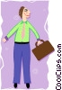 Vector Clip Art image  of a funky businessman