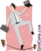 Vector Clipart illustration  of a walking the tightrope