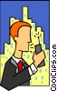 Vector Clip Art image  of a business communication