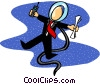 business spaceman Vector Clipart graphic