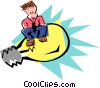 Vector Clipart graphic  of a idea guy