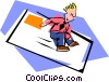 Vector Clip Art graphic  of a personal message