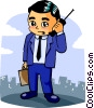Vector Clipart picture  of a businessman
