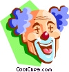 clown head Vector Clipart graphic