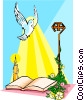 Vector Clipart graphic  of a Holy Spirit descending over