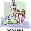 gift and colognes Vector Clipart graphic