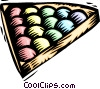 Vector Clip Art image  of a Pool balls