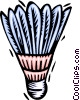 Vector Clipart picture  of a Badminton birdie