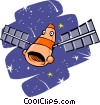 satellite Vector Clip Art graphic