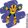 Vector Clip Art graphic  of a Space man