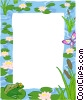 text backdrop / pond theme Vector Clipart illustration