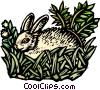 Vector Clip Art graphic  of a rabbit