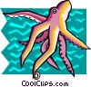 Vector Clip Art picture  of a Stylized octopus