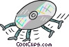 Vector Clipart graphic  of a Compact disk