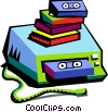 Vector Clipart picture  of a video player