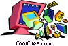 business technology Vector Clipart picture